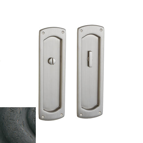 Baldwin - Distressed Oil-Rubbed Bronze PD007 Palo Alto Pocket Door