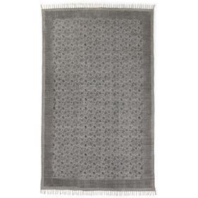 5x8' Size Flatweave Faded Print Rug