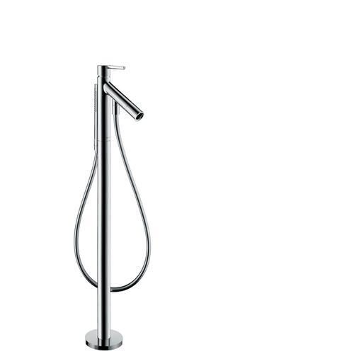Brushed Gold Optic Single lever bath mixer floor-standing with lever handle