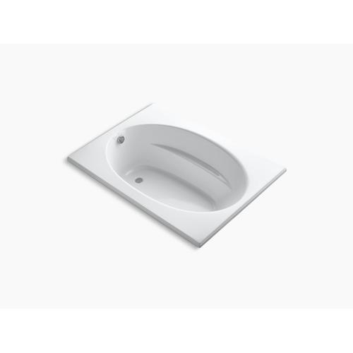 "Biscuit 60"" X 42"" Drop-in Rim Style Bath and End Drain"