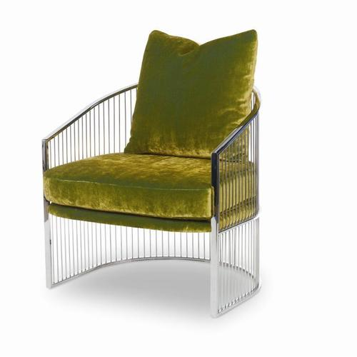Ruffalo Nickel Barrel Chair