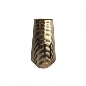 Ceramic Vase - Mettalic copper plated