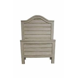 See Details - Weathered White Twin Ranch Bed