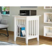 See Details - Mission Printer Stand in White