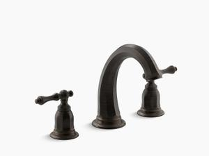 Oil-rubbed Bronze Deck-mount Bath Faucet Trim Product Image