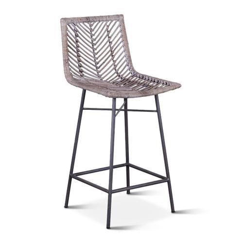 Kubu Counter Chair Gray Whitewash