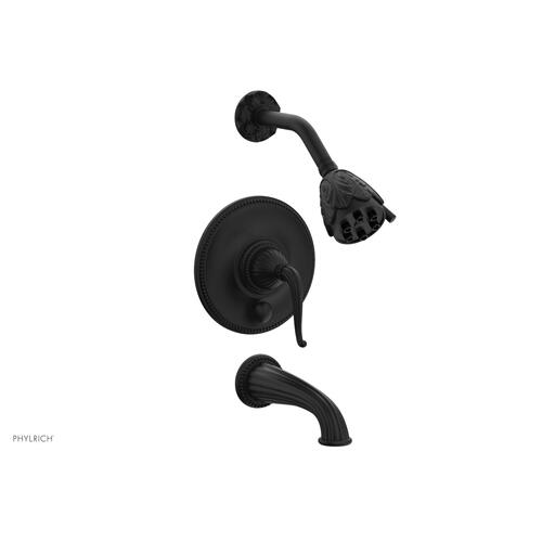 GEORGIAN & BARCELONA Pressure Balance Tub and Shower Set PB2141 - Matte Black