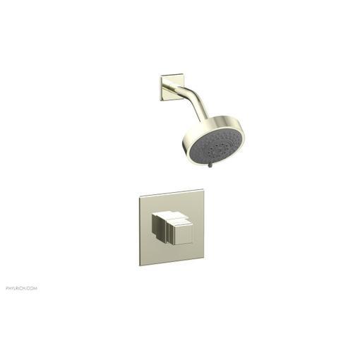 MIX Pressure Balance Shower Set - Cube Handle 290-24 - Burnished Nickel