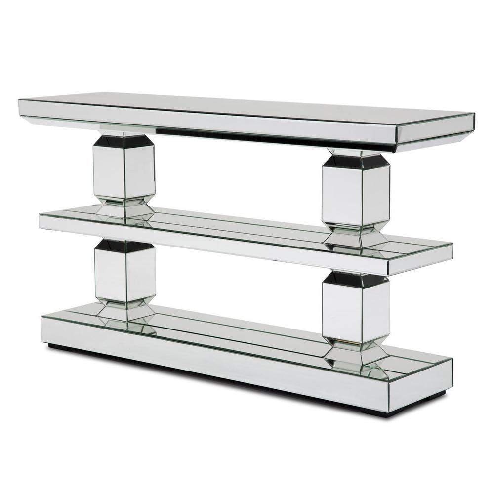 See Details - Mirrored 3-tier Console Table 226