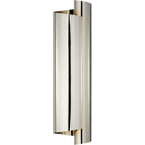 AERIN Iva 3 Light 6 inch Polished Nickel Wrapped Sconce Wall Light, Large