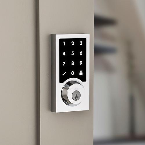 Kwikset - 916 Smartcode Contemporary Electronic Deadbolt with Z-Wave Technology - Polished Chrome