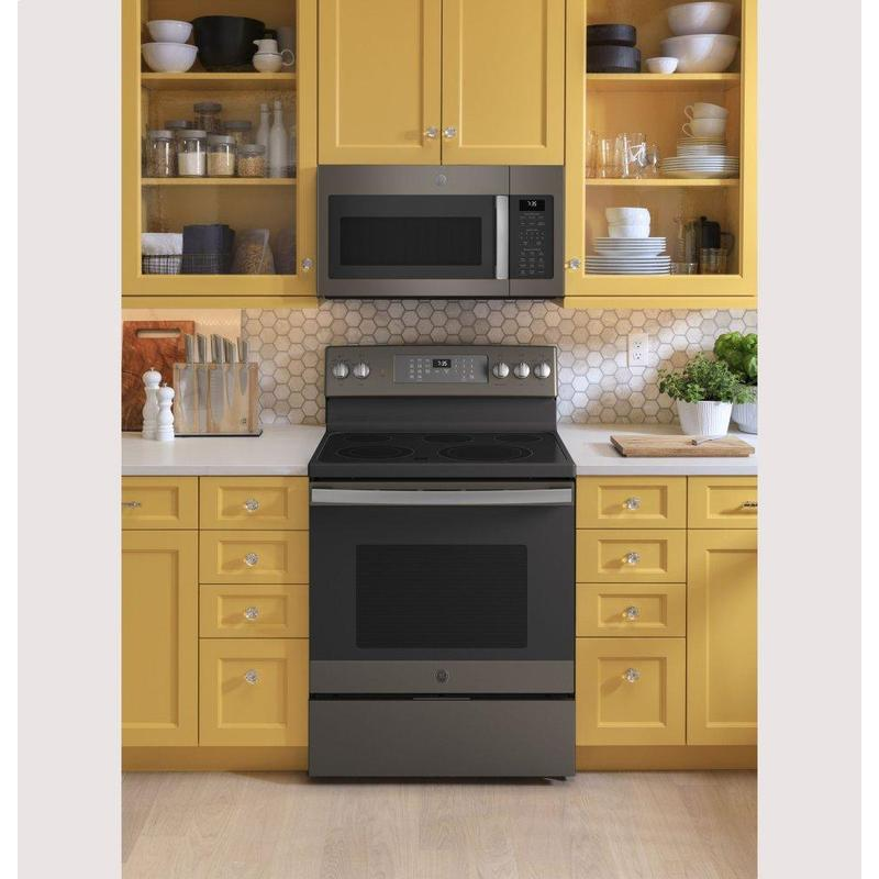 """GE® 30"""" Free-Standing Electric Convection Range with No Preheat Air Fry"""