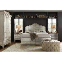 See Details - Arabella King Mirrored Panel Bed