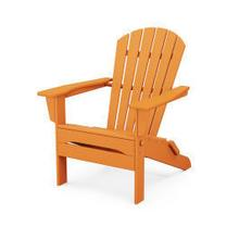 View Product - South Beach Folding Adirondack Chair in Tangerine