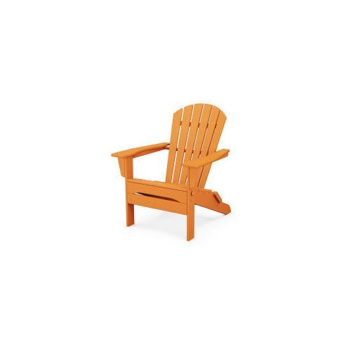 Polywood Furnishings - South Beach Folding Adirondack Chair in Tangerine