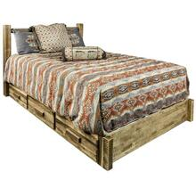Homestead Collection Platform Bed with Storage, Stain and Lacquer Finish