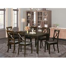 7 PC Dining room set for 6-Dining Table with Leaf and 6 Dining Chairs