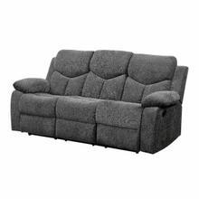 ACME Kalen Sofa (Motion) - 55440 - Contemporary - Chenille, Frame: Wood (Hemlock/Fir, Ply), Foam (D22), Metal Reclining Mechanism - Gray Chenille