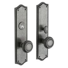 View Product - Distressed Antique Nickel Barclay Entrance Trim