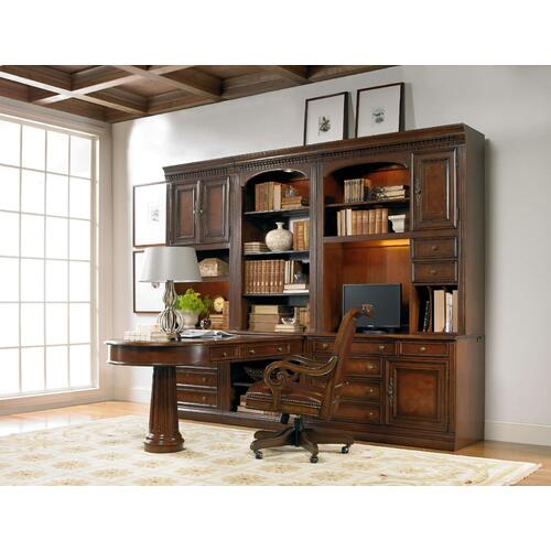 Home Office European Renaissance II Peninsula Desk Pedestal