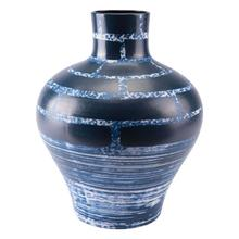 Tall Ocean Vase Blue & White