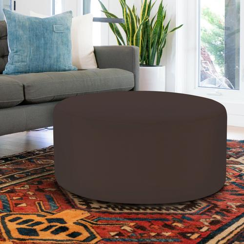 Universal Round Ottoman Cover Seascape Chocolate (Cover Only)