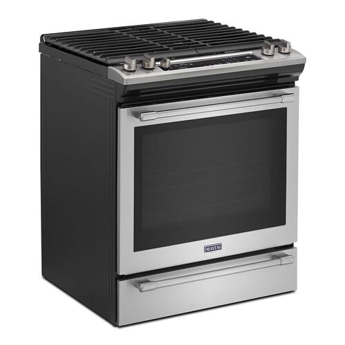 Maytag - 30-INCH WIDE SLIDE-IN GAS RANGE WITH TRUE CONVECTION AND FIT SYSTEM - 5.8 CU. FT.