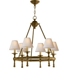 E. F. Chapman Classic 6 Light 26 inch Hand-Rubbed Antique Brass Chandelier Ceiling Light