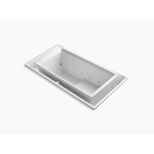 """White 75"""" X 41"""" Drop-in Effervescence Bath With Chromatherapy and Left-hand Drain"""