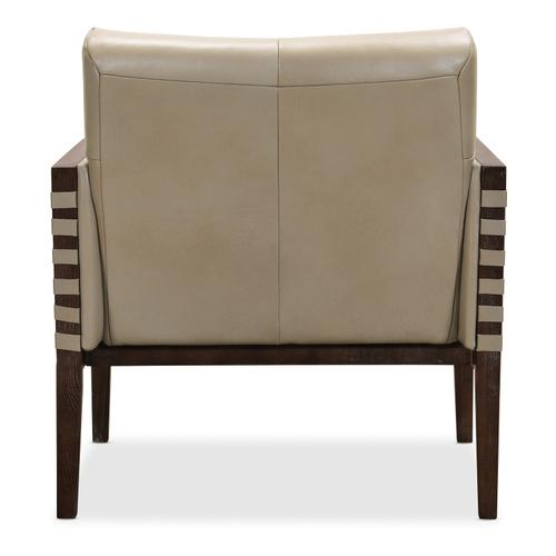Hooker Furniture - Carverdale Leather Club Chair w/Wood Frame