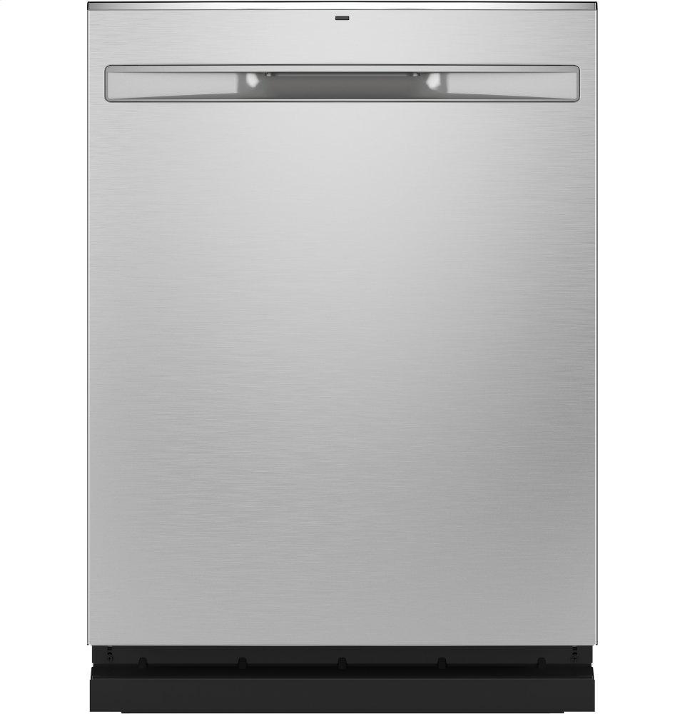 GE®fingerprint Resistant Top Control With Stainless Steel Interior Dishwasher With Sanitize Cycle & Dry Boost