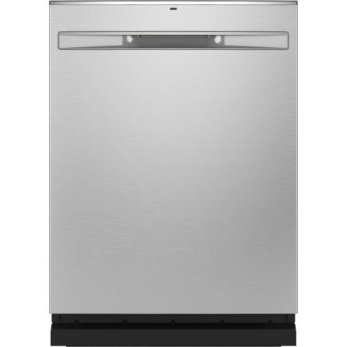 Gallery - GE® Fingerprint Resistant Top Control with Stainless Steel Interior Dishwasher with Sanitize Cycle & Dry Boost