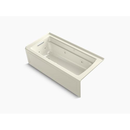 """Biscuit 66"""" X 32"""" Integral Apron Whirlpool + Heated Bubblemassage Air Bath With Left-hand Drain"""