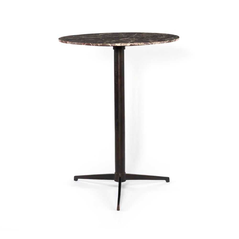 See Details - Bar Table Size Garnet Marble Finish Helen Bar + Counter Table