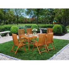 This 7 Piece Acacia Wooden Outdoor-Furniture Dining Sets offers one Outdoor-Furniture table and Six foldable chairs
