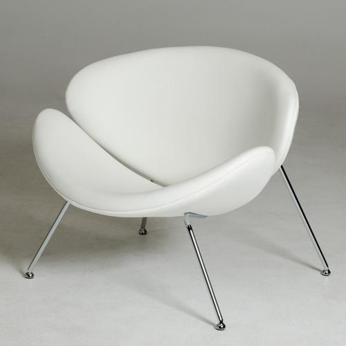 Gallery - Modrest Anais Contemporary White Leatherette Accent Chair