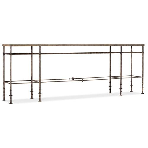 Living Room La Grange St James Metal and Stone Console