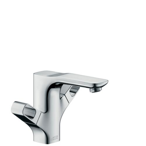 Chrome 2-handle basin mixer 120 with pop-up waste set