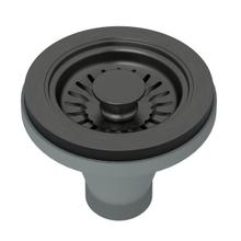 Black Stainless Steel Manual Basket Strainer Without Remote Pop-Up