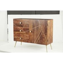 "WD MTL INLAY SIDEBOARD 46""W, 36""H"