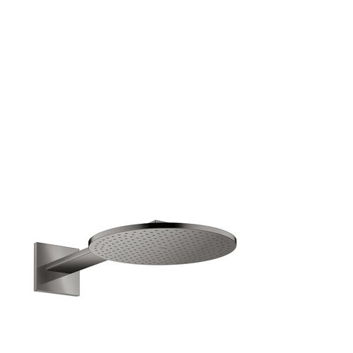 Polished Black Chrome Overhead shower 300 2jet with shower arm