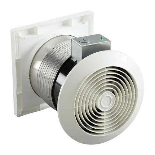 "6"" 70 CFM Through Wall Exhaust Fan, White Grille"