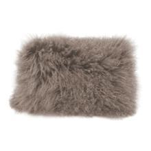 See Details - Lamb Fur Pillow Rect. Grey