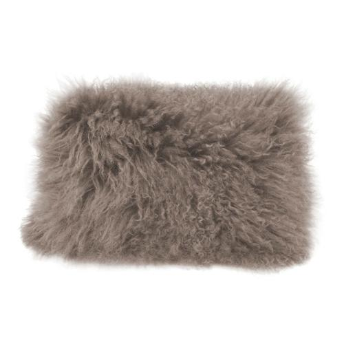 Moe's Home Collection - Lamb Fur Pillow Rect. Grey