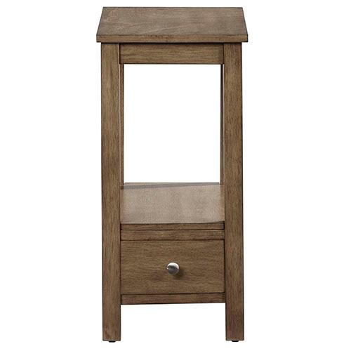 Progressive Furniture - Chairside Table - Honey Finish