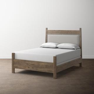 Bench*Made Maple Cal King Live Edge Panel Bed, Footboard Low, Footboard Post Height Standard