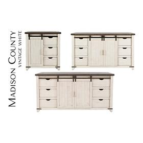 """Madison County 32"""" Barn Door Accent Cabinet"""