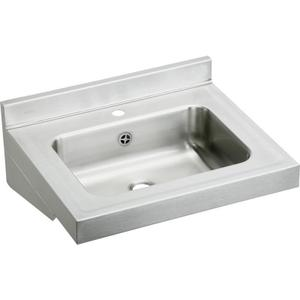 """Elkay Stainless Steel 22"""" x 19"""" x 5-1/2"""", Wall Hung Lavatory Sink Product Image"""
