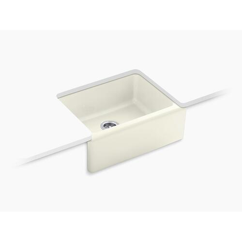 """Biscuit 25-1/4"""" X 22"""" X 8-5/8"""" Undermount Single-bowl Farmhouse Kitchen Sink With 5 Oversize Faucet Holes"""