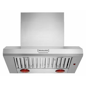 """36"""" 585 or 1170 CFM Motor Class Commercial-Style Wall-Mount Canopy Range Hood - Stainless Steel"""